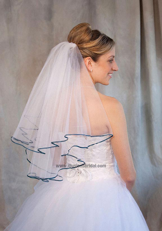 Illusions Bridal Colored Veils and Edges C7-252-1R-TL