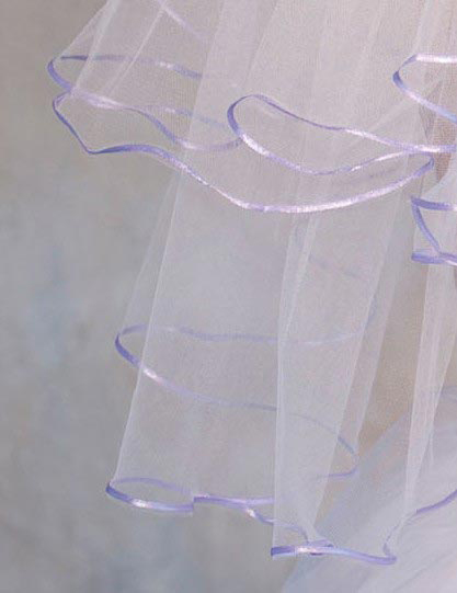 Illusions Bridal Colored Veils and Edges C7-252-1R-VL