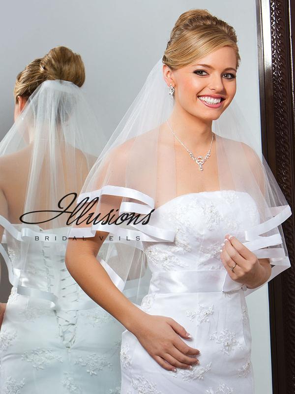 Illusions Bridal Ribbon Edge Veil C7-252-7R