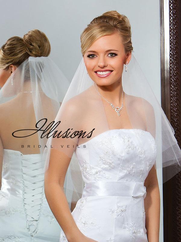 Illusions Bridal Cut Edge Veil C7-252-CT