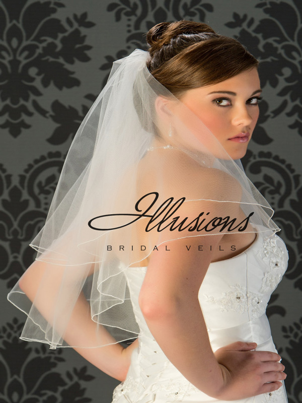 Illusions Bridal Corded Edge Veil C7-252-C
