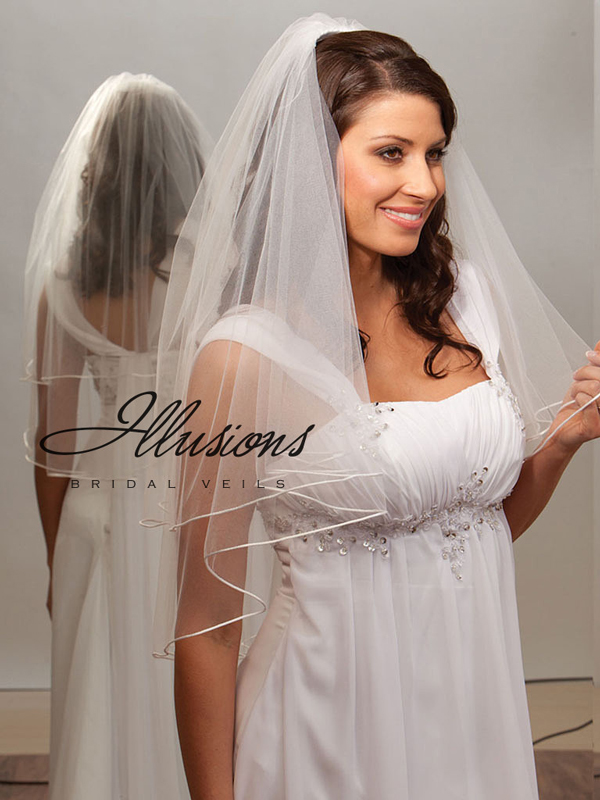 Illusions Bridal Rattail Edge Veil C7-302-RT
