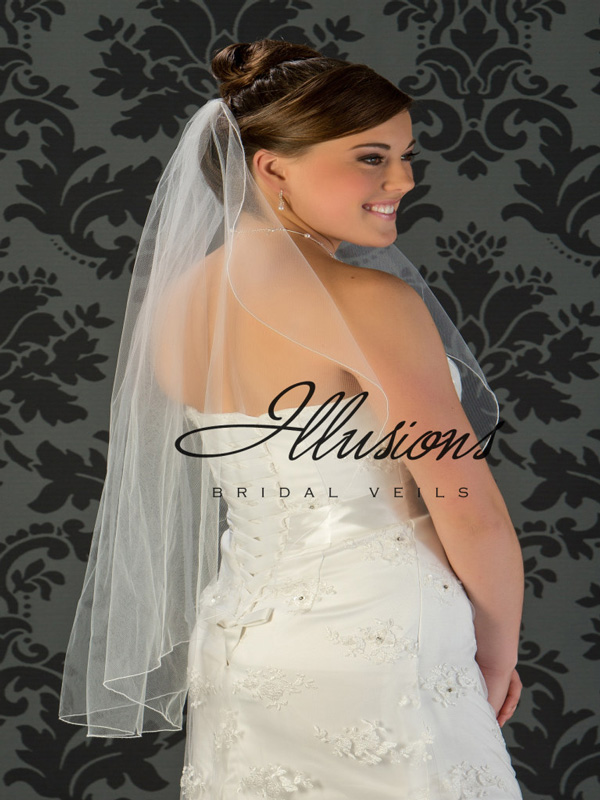 Illusions Bridal Corded Edge Veil C7-361-C: Pearl Accent