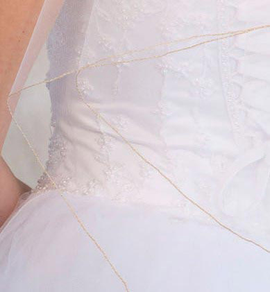 Illusions Bridal Colored Veils and Edges C7-362-C-AG