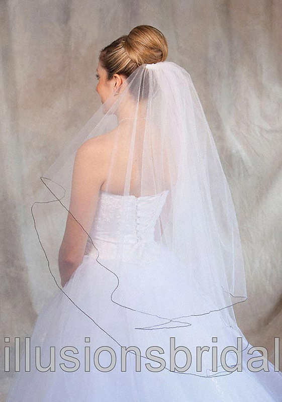 Illusions Bridal Colored Veils and Edges C7-362-C-BK