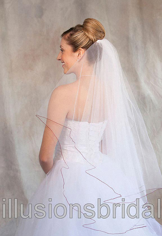 Illusions Bridal Colored Veils and Edges C7-362-C-GT