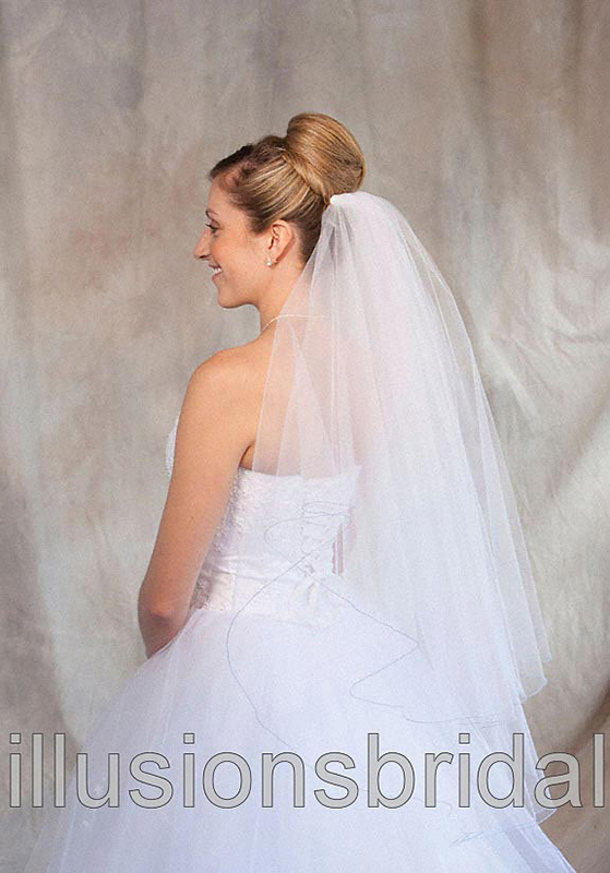 Illusions Bridal Colored Veils and Edges C7-362-C-LB