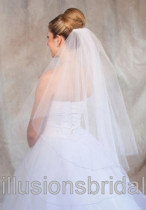 Illusions Bridal Colored Veils and Edges C7-362-C-LV