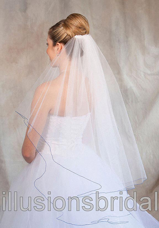 Illusions Bridal Colored Veils and Edges C7-362-C-RB