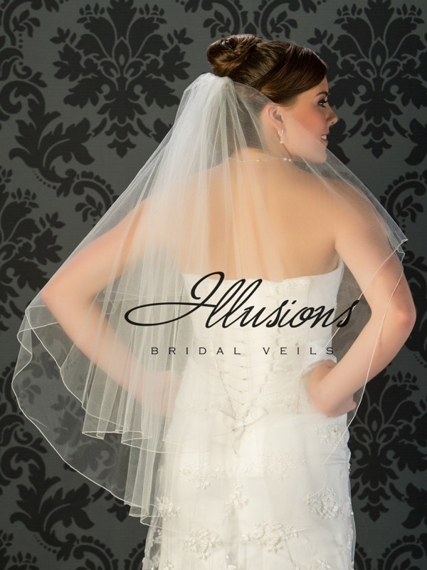 Illusions Bridal Corded Edge Veil C7-362-C