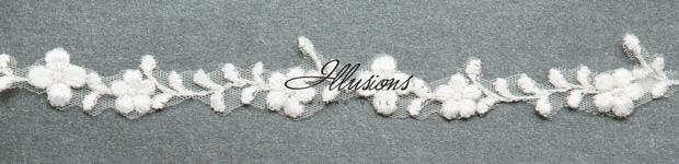 Illusions Bridal Lace Edge Wedding Veil C7-901-6L: Long Lace Edge