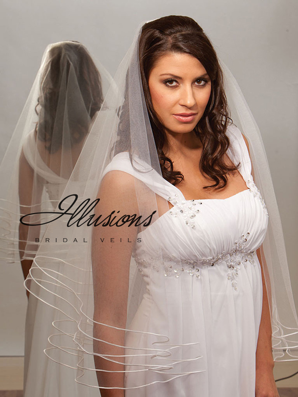 Illusions Bridal Rattail Edge Veil D7-302-TRT