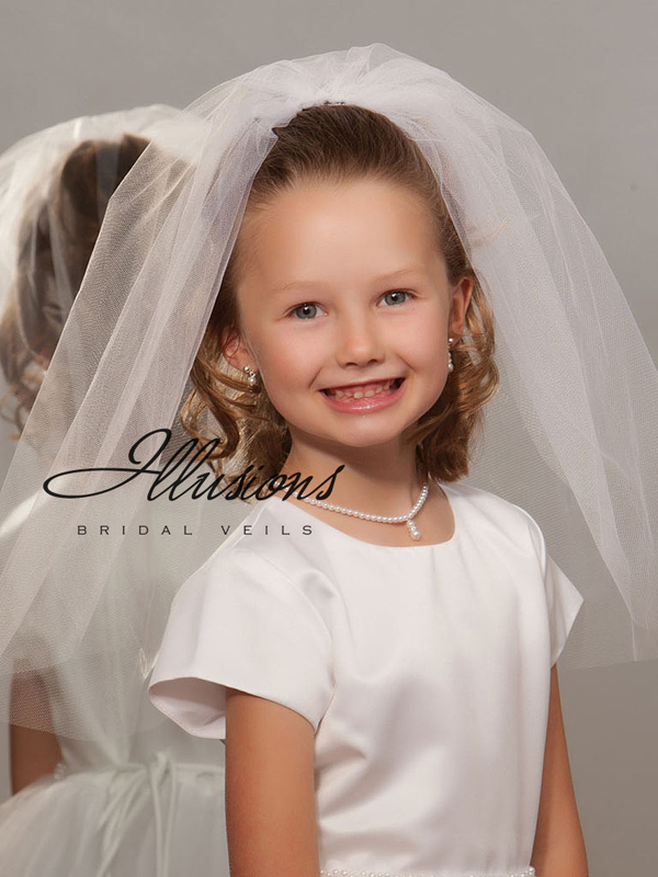 Illusions Bridal Flower Girl and First Communion Veils M-201-CT