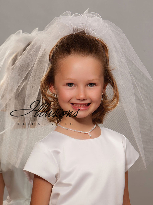 Illusions Bridal Flower Girl and First Communion Veils M-201-FR-CT