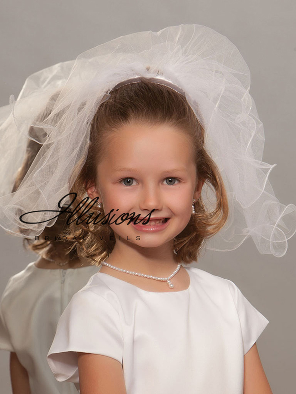 Illusions Bridal Flower Girl and First Communion Veils MC-152-F