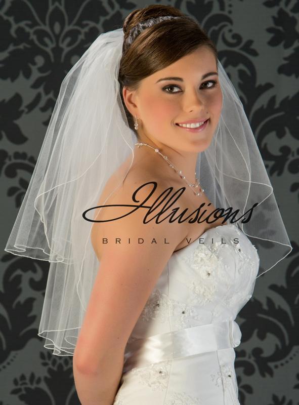 Illusions Bridal Corded Edge Veil S1-252-C