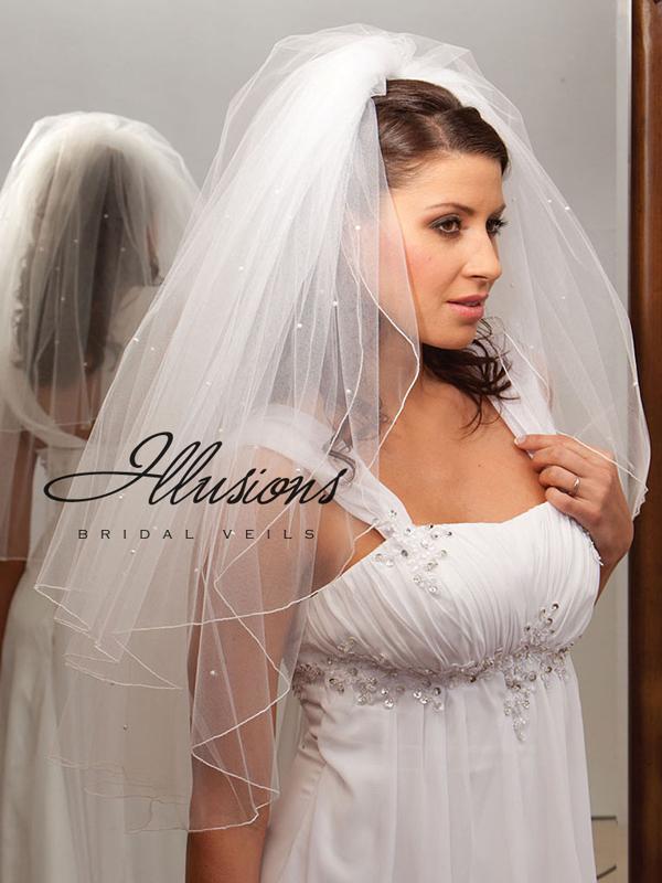 Illusions Bridal Corded Edge Veil S1-302-C-P