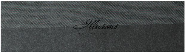 Illusions Bridal Cut Edge Veil S1-302-CT: Rhinestone Accent