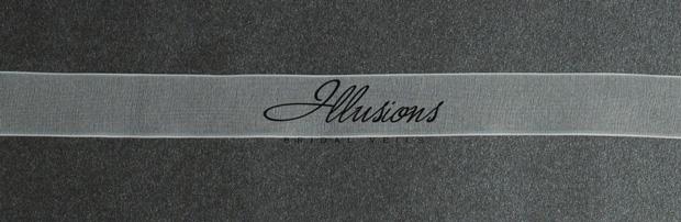 Illusions Bridal Ribbon Edge Veil S1-302-SR: Rhinestone Accent