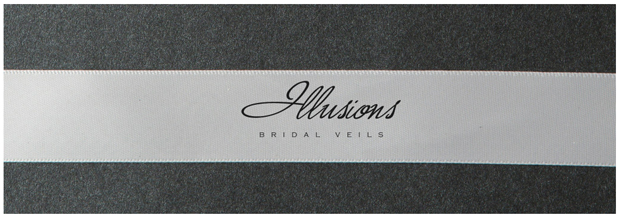 Illusions Bridal Ribbon Edge Veil S1-452-7R: Rhinestone Accent