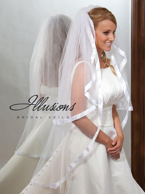 Illusions Bridal Ribbon Edge Veil S1-452-7R