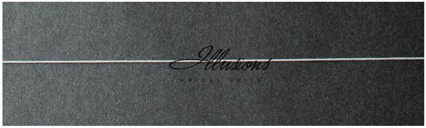 Illusions Bridal Corded Edge Veil S5-202-C: 2 Layer Diamond White, Rhinestone Accent