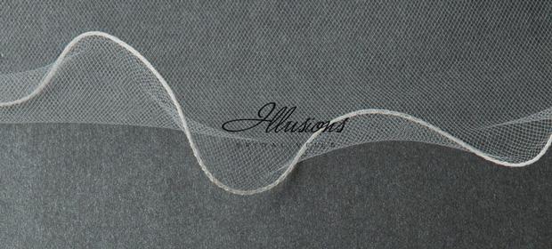 Illusions Bridal Filament Edge Veil S5-252-F: Rhinestone Accent