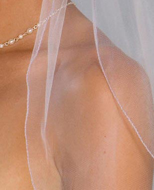 Illusions Bridal Colored Veils and Edges S5-362-C-LV: Rhinestone Accent