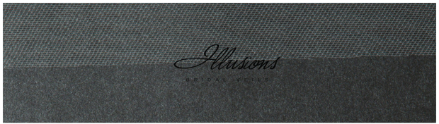 Illusions Bridal Cut Edge Veil S5-722-CT: 2 Layer Floor Length