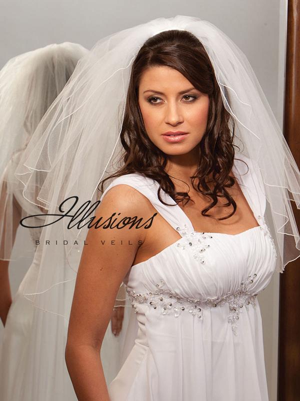 Illusions Bridal Corded Edge Veil S7-252-C