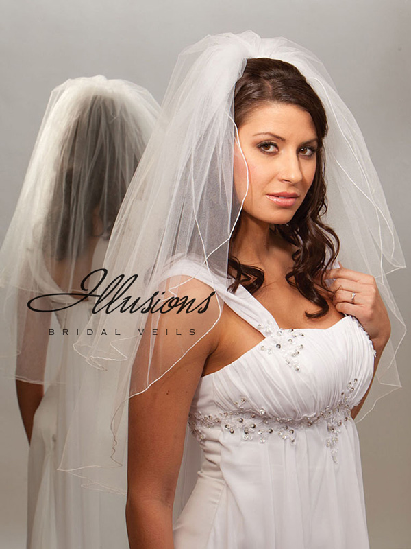 Illusions Bridal Corded Edge Veil S7-302-C