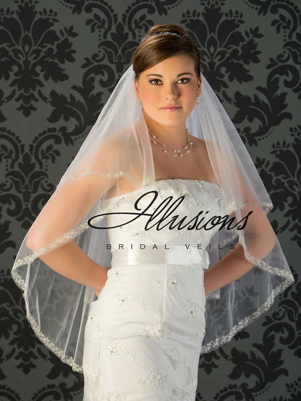 Illusions Bridal Beaded and Specialty Veils V-7026