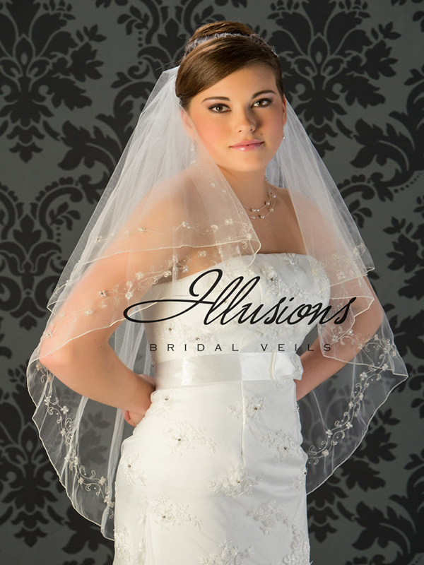 Illusions Bridal Beaded and Specialty Veils V-7028