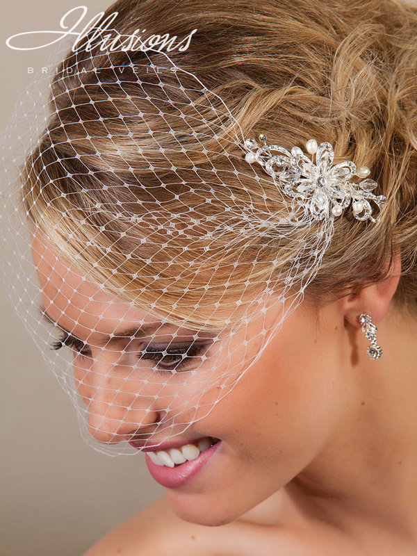 Illusions Bridal Visor Veils VS-7002