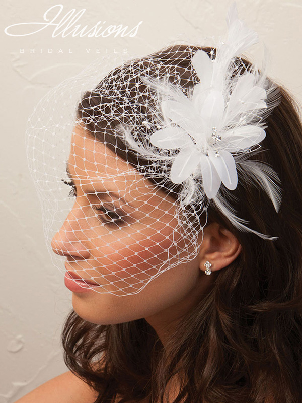 Illusions Bridal Visor Veils VS-7017