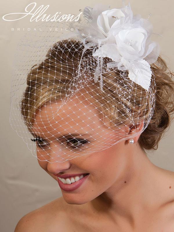 Illusions Bridal Visor Veils VS-7021