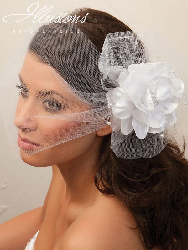 Illusions Bridal Visor Veils VS-7027