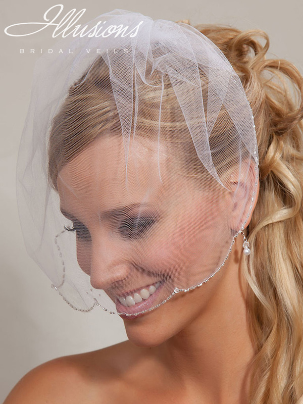 Illusions Bridal Visor Veils VS-7038