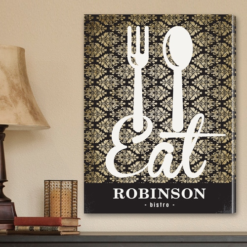 JDS Personalized Canvas Print: Bistro Sign
