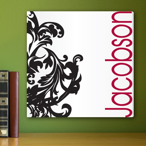 JDS Canvas Print: fleur De Lis, Black/Red