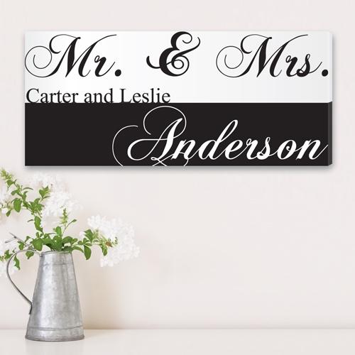 JDS Canvas Print: Mr. & Mrs. Couples