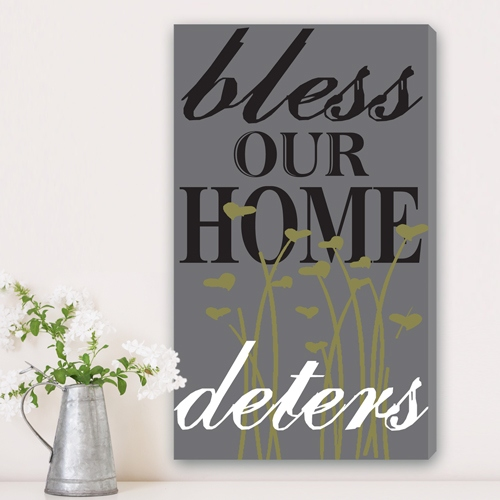 JDS Personalized Canvas Print: Sweet Blessings