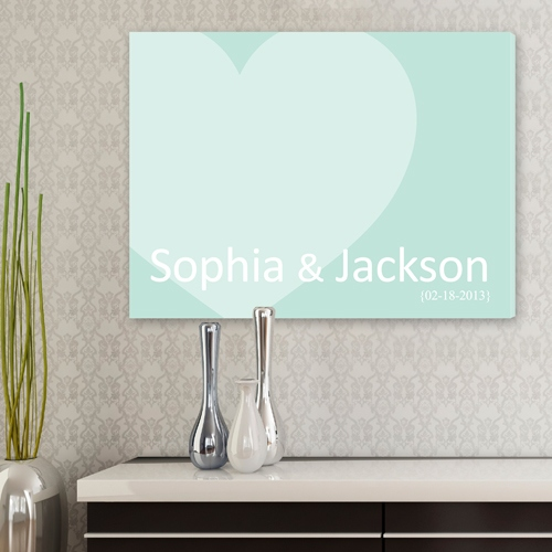 JDS Personalized Canvas: Signature Heart