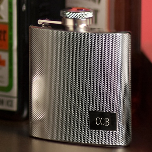 JDS Personalized Steel Flask: Textured Stainless