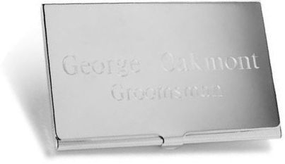 JDS Personalized Business Card Case: Silver Plated