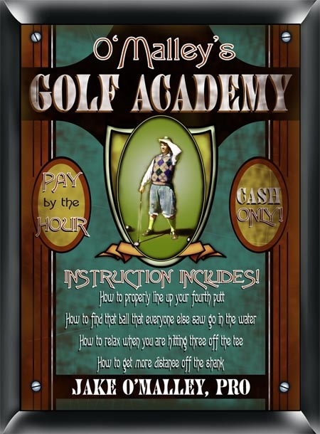 JDS Personalized Golf Academy Sign