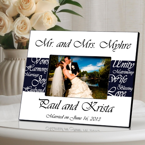 JDS Personalized Wedding Frame: Mr. and Mrs.