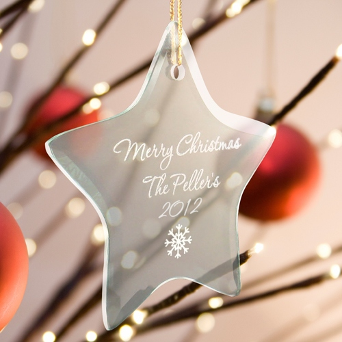 JDS Personalized Christmas Tree Ornament: Star