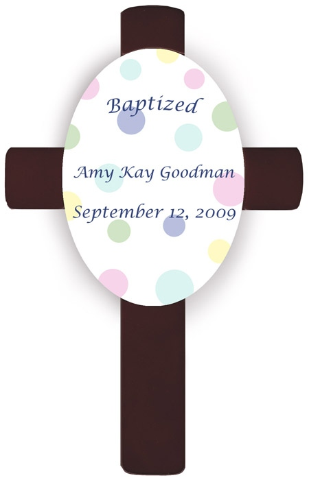 JDS Personalized Children's Baptism Crosses