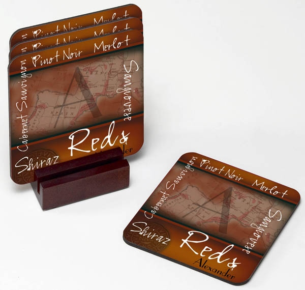 JDS Personalized Wine Coaster Set